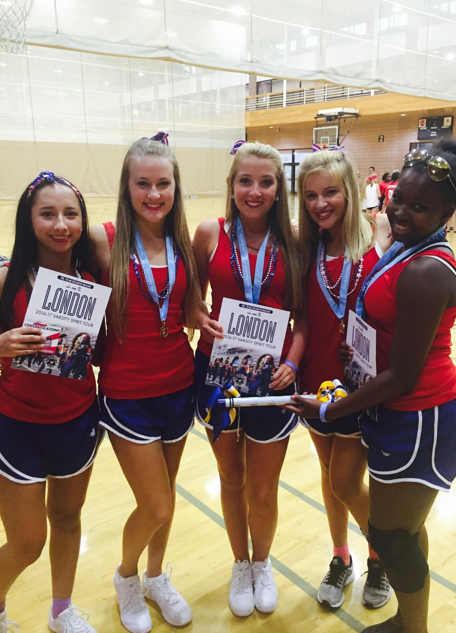 All American honors - Meena Page, Katherine Poole, Ellie Hinton, Madisyn Martin, Ansley Howell.
