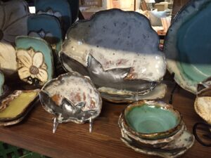 Cotton Boll pottery are part of the Everday Collection.