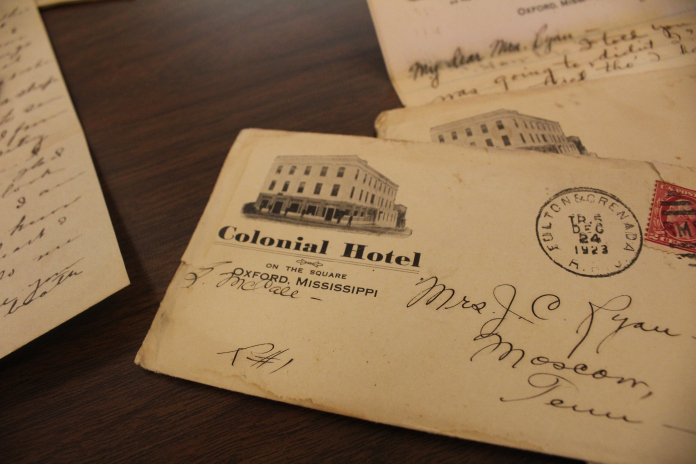 A postcard from the Colonial Hotel in 1923, which was located where the current Thompson House stands on the Square.