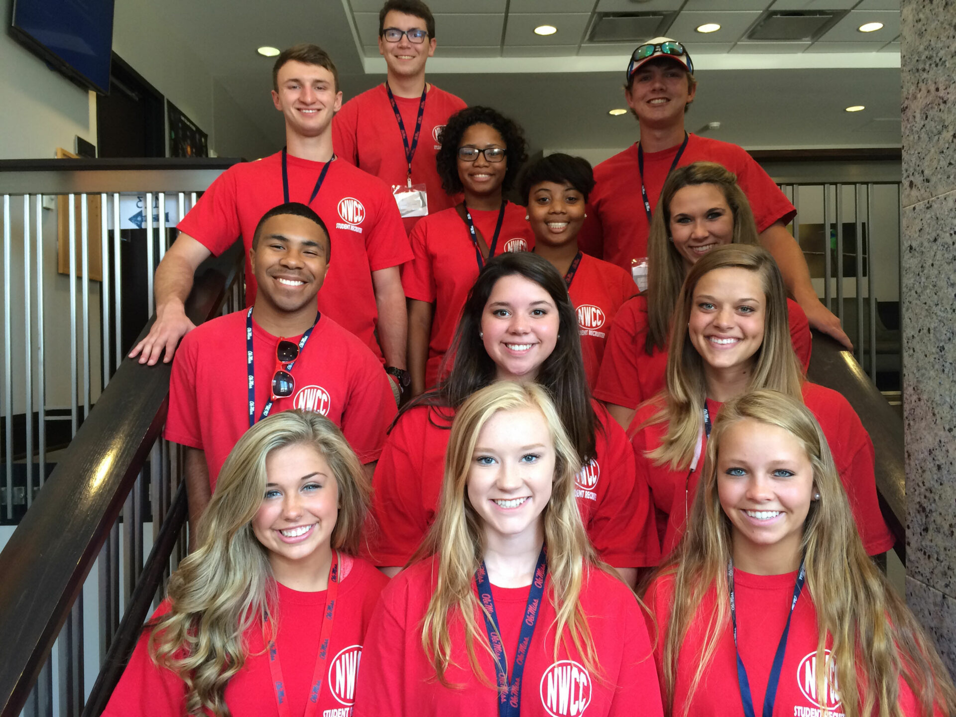 Students who participated in the summit are (front row, l-r) Calla Basil of Blue Springs, Lindsey Douglas of Enid and Kallie Adair of Senatobia; (second row, l-r) Jaron Cole of Hernando, Hanna Legendre of Senatobia and Kendall Kimberlin of Olive Branch; (third row, l-r) David Worley of Senatobia, Laraneisha Fairlee of Sumner, Marissa Edwards of Southaven and Mary Cassidy McLauglin of Senatobia and (top row, l-r) Noah Fleener of Olive Branch and Brandon Smith of Senatobia.  (Photo by Abby Embrey)