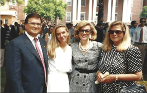 Fritts attends his daughter Jennifer's (second from left) graduation at the University of Mississippi with his wife Martha Dale and daughter Kimberley.
