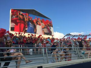 Rebel Fans testing out the new North End Zone.