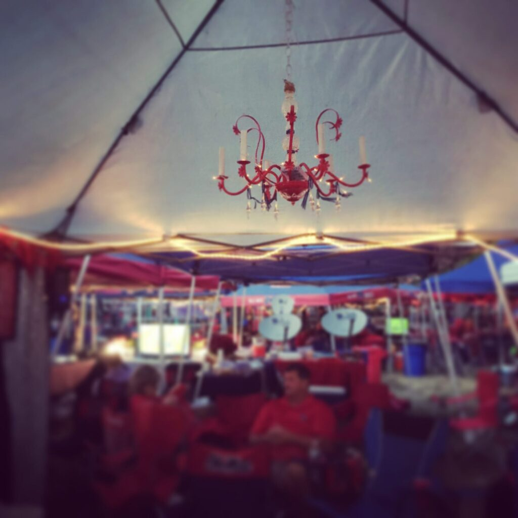 Are you ready take a chandelier tour of the grove hottytoddy ornately bedazzled chandeliers arubaitofo Image collections