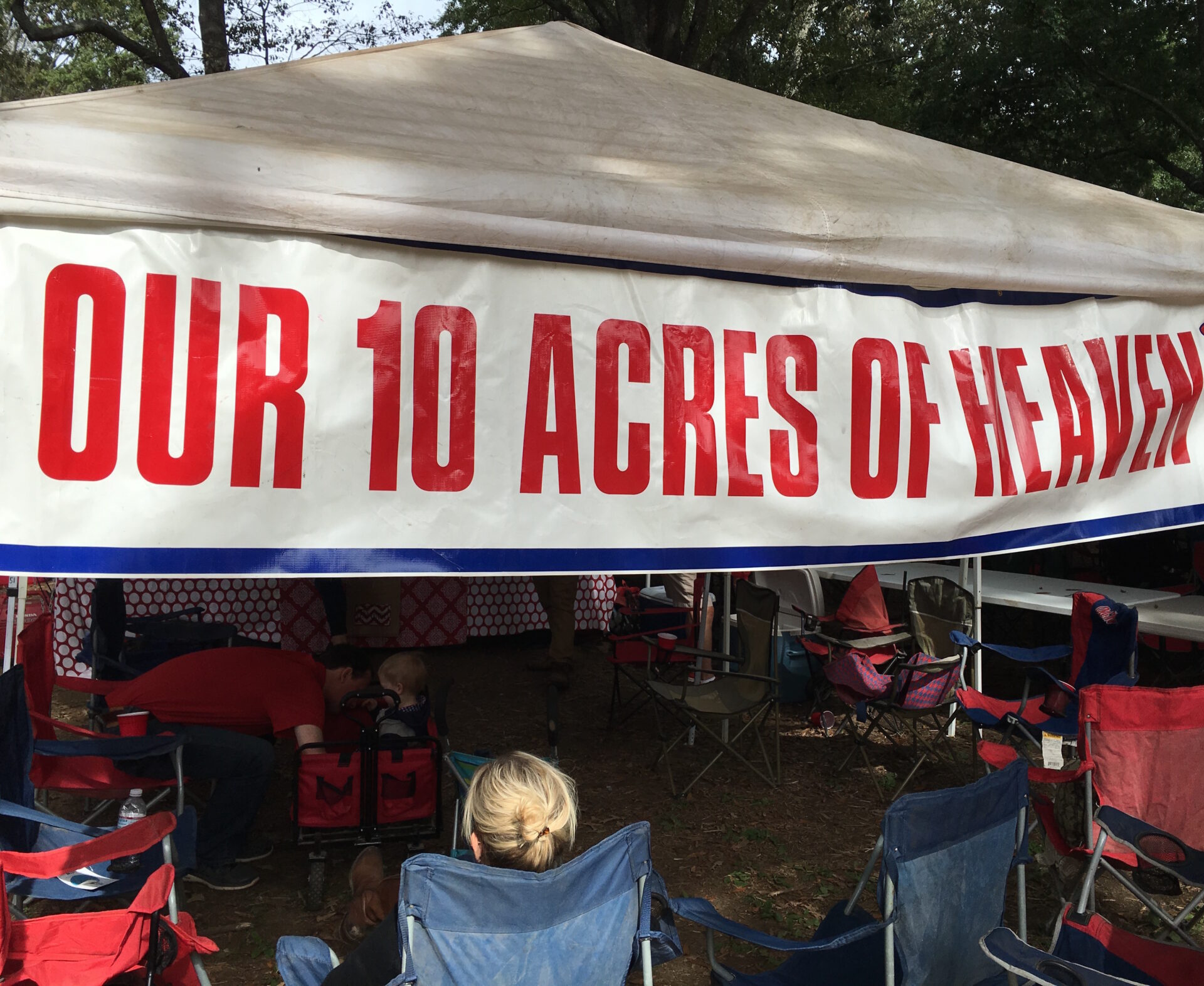 Ole miss tailgating traditions our 10 acres of heaven tent tailgate billboard 176x512 img4523 arubaitofo Gallery