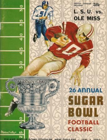 Rebels 1960 Sugar Bowl Program