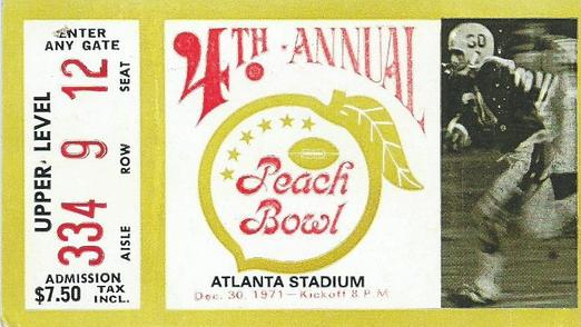 1971 Peach Bowl Ticket - courtesy of OleMissMemorabilia.com
