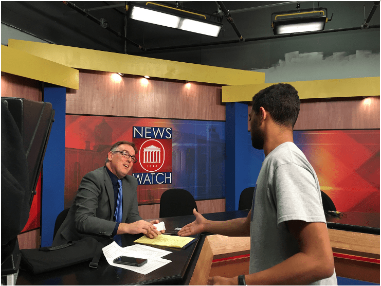 WTVA News Director Visits Meek School NewsWatch Students
