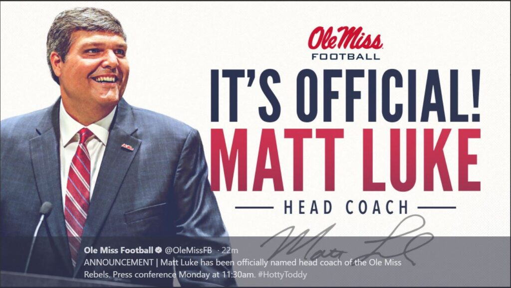Ole Miss names interim Matt Luke its permanent coach