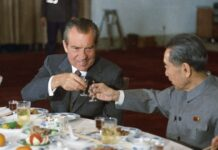 Richard Nixon and Zhou Enlai