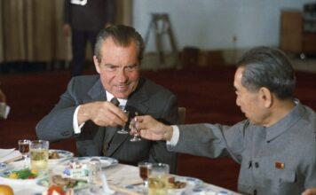 Richard Nixon and Zhou Enlai