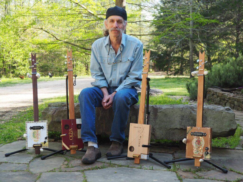 Alan Gross cigar box guitars