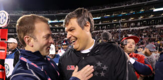 Ross Bjork and Matt Luke at Egg Bowl