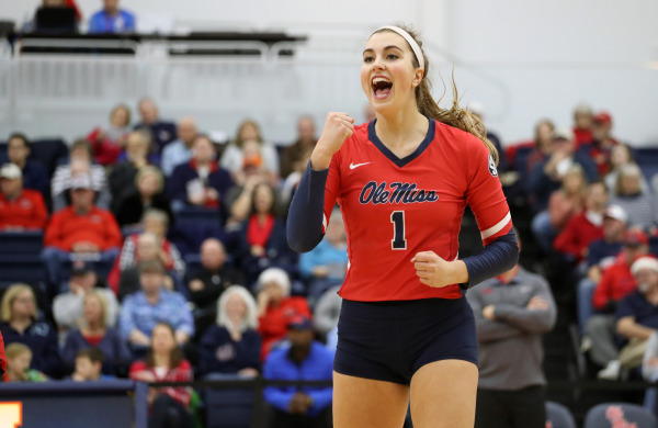 Lauren Bars Ole Miss volleyball