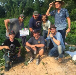 Director and crew of Southern Fried Zombies