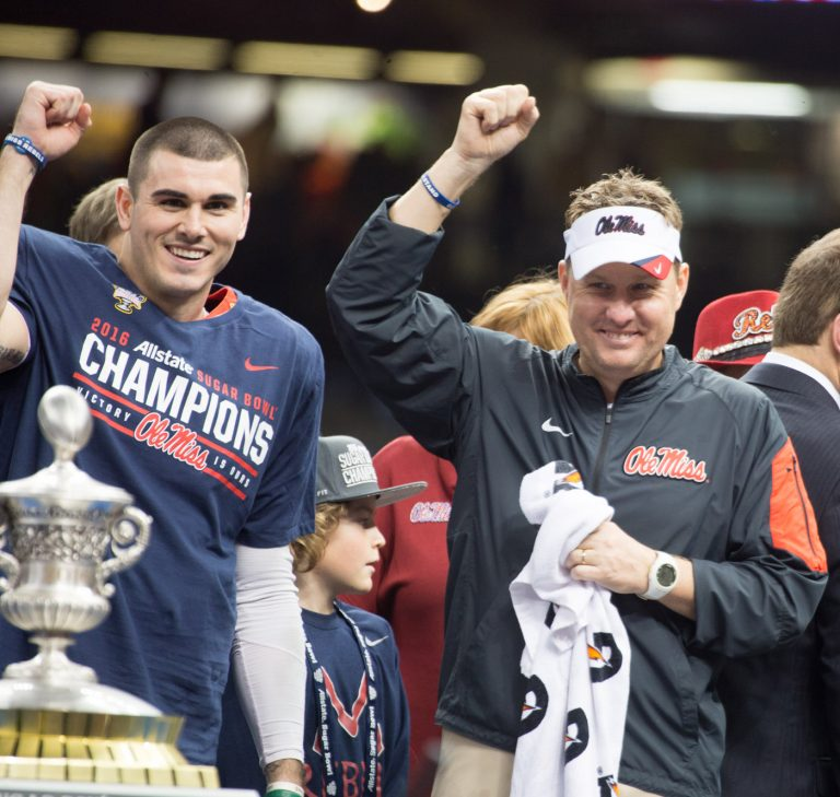 Hugh Freeze and Chad Kelly