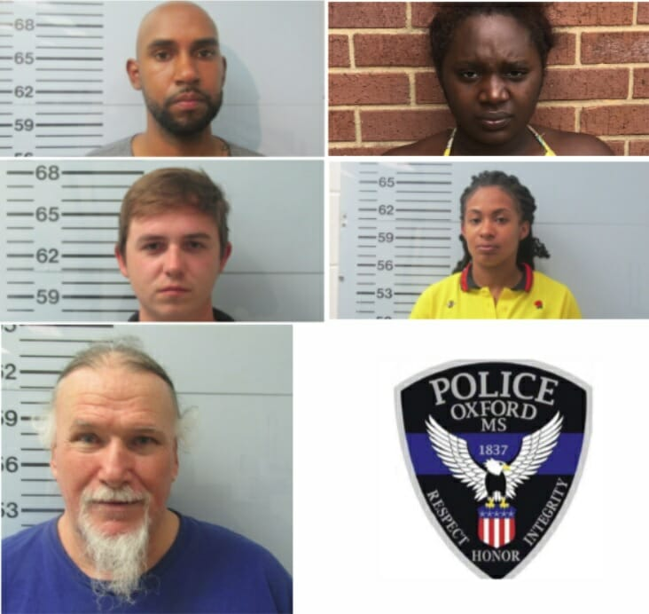 OPD Arrests 5 for Unrelated Crimes of Theft - HottyToddy com