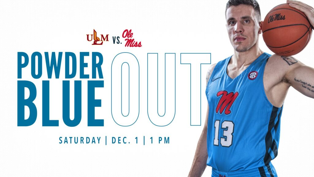 half off 77d5b 377f0 Rebels Unveil Powder Blue Uniforms for ULM Matchup ...