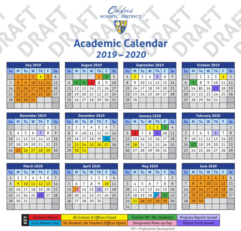 Ole Miss Academic Calendar 2020 OSD Sets School Calendar for 2019 2020   HottyToddy.com